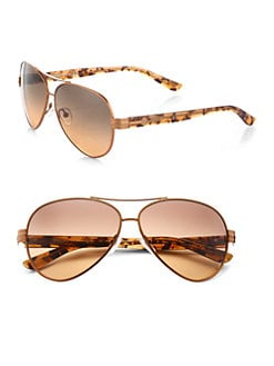 Tory Burch - Plastic & Metal Aviator Sunglasses