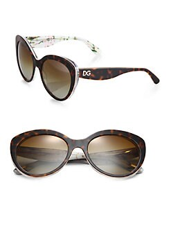 Dolce & Gabbana - Multi-Print Cat's-Eye Sunglasses