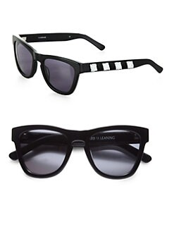 Westward Leaning - Love Thy Neighbor Beaded Acetate Square Sunglasses