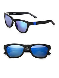 Westward Leaning - Color Revolutions Acetate Square Sunglasses/Blue