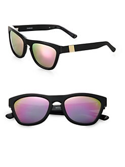 Westward Leaning - Color Revolutions Acetate Square Sunglasses/Neon Pink