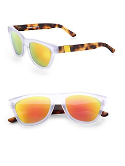 Westward Leaning - Color Revolutions Acetate Square Sunglasses/Orange & Tortoise