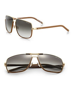 Jimmy Choo - Carry Oversized Metal Sunglasses