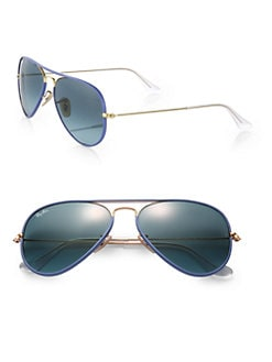 Ray-Ban - Plastic-Rim Aviator Sunglasses