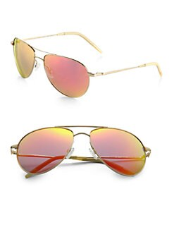 Oliver Peoples - Benedict Mirrored Lens Aviator