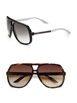 Gucci - Plastic Aviator Sunglasses