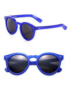 Illesteva - Leonard Round Acetate Sunglasses