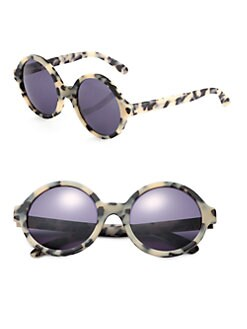 Illesteva - Sophia Oversized Round Sunglasses