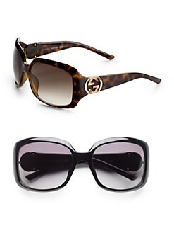 Gucci - Interlocking Logo Square Sunglasses