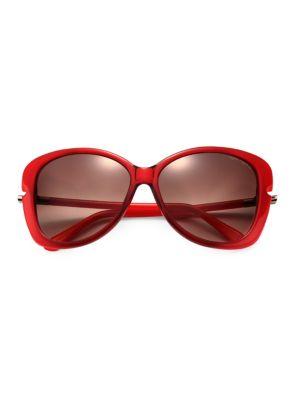 Linda Metal-Trimmed Square Sunglasses