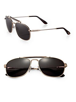 Tom Ford Eyewear - Marlon Metal Aviator Sunglasses