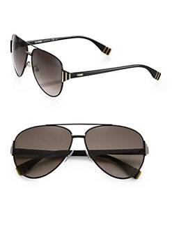 Fendi - Metal & Acetate Aviator Sunglasses