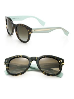 Colorblocked Round Sunglasses