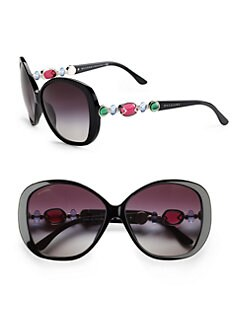 BVLGARI - Multi-Stone Embellished Sunglasses