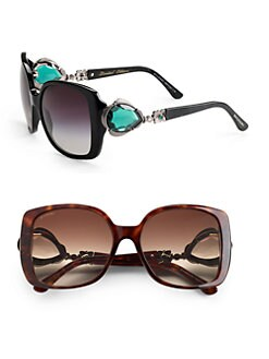 BVLGARI - Oversized Stone Embellished Sunglasses