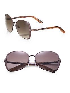Bottega Veneta - Oversized Square Metal Sunglasses