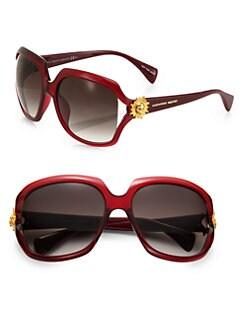 Alexander McQueen - Square Plastic Sunglasses