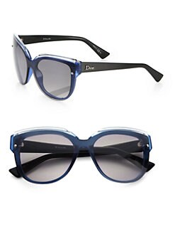 Dior - Glisten Oversized Rectangular Sunglasses