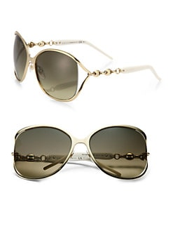 Gucci - Oversized Round Metal Sunglasses