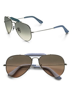 Ray-Ban - Silver Craft Aviator Sunglasses