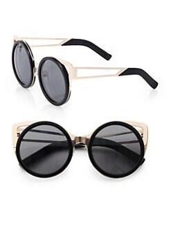 Erdem - Metal-Trimmed Round Sunglasses