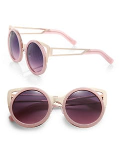 Erdem - Metal-Trimmed Round Sunglasses