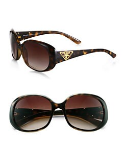 Prada - Oval Logo Sunglasses