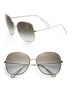 ISABEL MARANT PAR OLIVER PEOPLES - Daria Oversized Metal Sunglasses