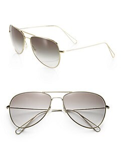 ISABEL MARANT PAR OLIVER PEOPLES - Matt Aviator Metal Sunglasses