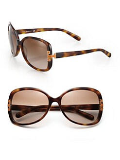 Tory Burch - Oversized Square Thin Rim Sunglasses