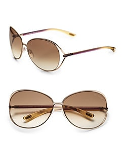 Tom Ford Eyewear - Clemence Oversized Round Sunglasses/Rosegold