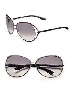 Tom Ford Eyewear - Clemence Oversized Round Sunglasses/Gunmetal