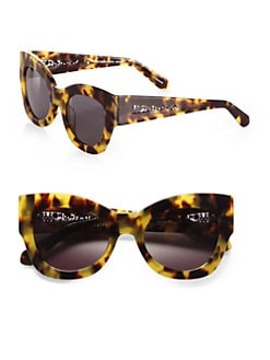 Karen Walker - Northern Lights Cat's-Eye Sunglasses/Tortoise