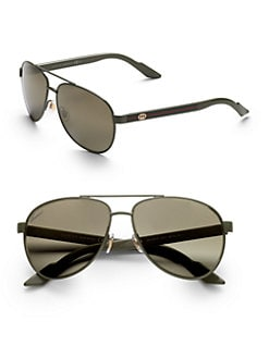 Gucci - Young Project Metal Aviator Sunglasses