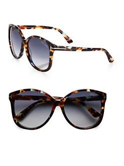Tom Ford Eyewear - Alicia Round Acetate Sunglasses