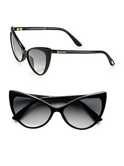 Tom Ford Eyewear - Anastacia Cat's-Eye Sunglasses/Black