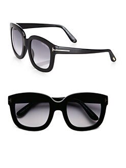 Tom Ford Eyewear - Christophe Square Acetate Sunglasses/Black
