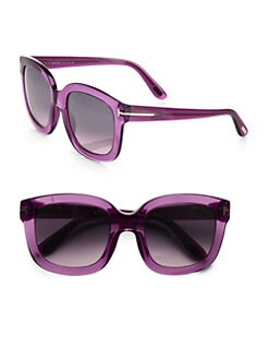 Tom Ford Eyewear - Christophe Square Acetate Sunglasses/Violet