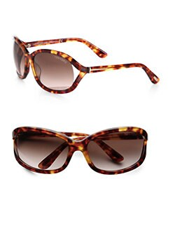 Tom Ford Eyewear - Vivienne Square Acetate Sunglasses/Light Havana