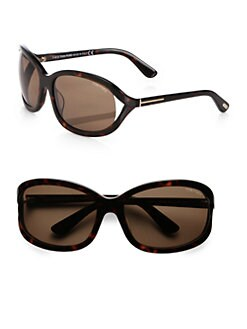 Tom Ford Eyewear - Vivienne Square Acetate Sunglasses/Dark Havana