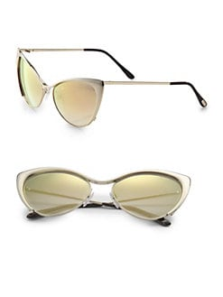 Tom Ford Eyewear - Nastasya Metal Cat's-Eye Sunglasses