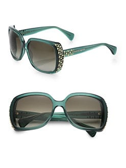 Alexander McQueen - Studded Rectangular Sunglasses