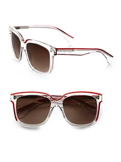 Alexander McQueen - Crystal Wayfarer Acetate Sunglasses