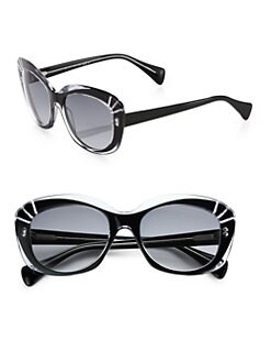 Alexander McQueen - Champ Cat's-Eye Acetate Sunglasses