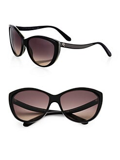Alexander McQueen - Two-Tone Plastic Cat's-Eye Sunglasses