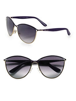 Jimmy Choo - Tanis Round Metal Sunglasses