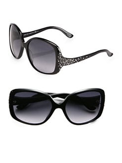 Jimmy Choo - Oversized Zeta Plastic Sunglasses