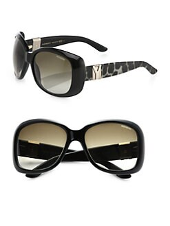 Saint Laurent - Python Printed Square Acetate Sunglasses