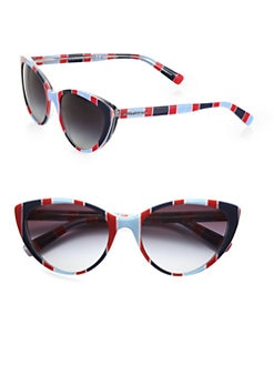 Dolce & Gabbana - Striped Cat's-Eye Sunglasses