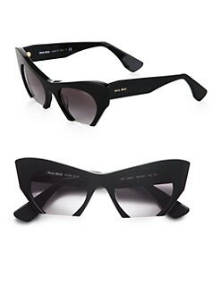 Miu Miu - Plastic Cat's-Eye Sunglasses